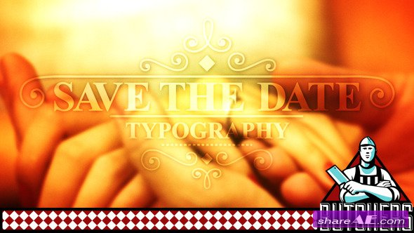 Save The Date Typography - After Effects Project (Videohive)