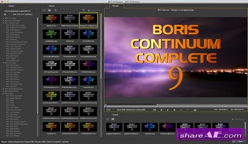 Boris Continuum Complete v9.0.1051 for After Effects (MacOSX)
