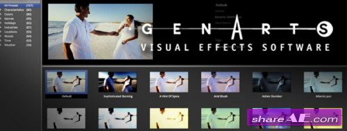 GenArts Plugins Collection for After Effects (MacOSX) (July 2014)