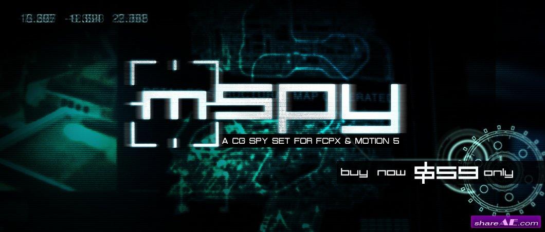 Mspy A Cg Spy Set For Fcpx And Motion 5 Motionvfx