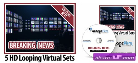 Footage Firm: Breaking News Virtual Set