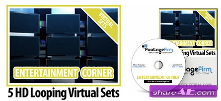 Footage Firm: Entertainment Corner Virtual Set Backgrounds
