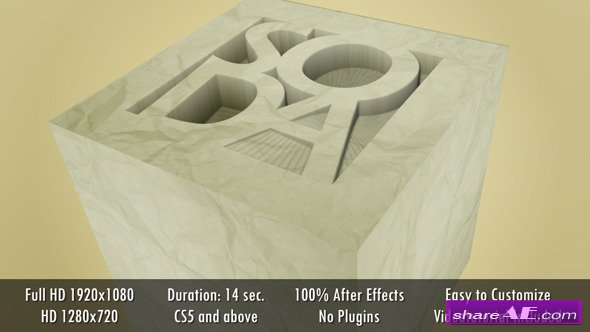 Paper Cut Logo - After Effects Project (Videohive)