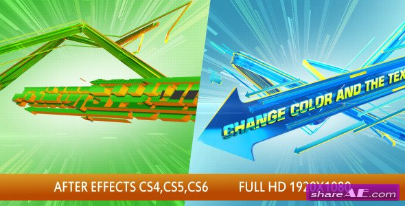 3d arrows logo intro after effects project videohive for After effects cs4 intro templates free download