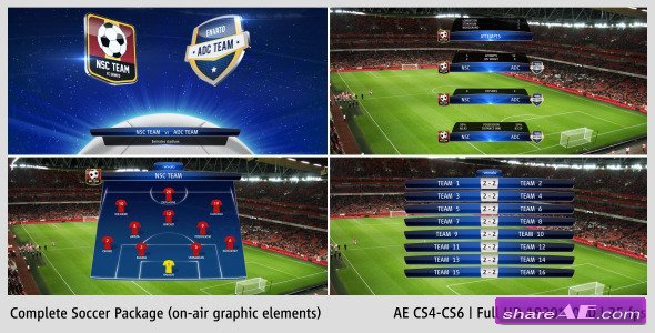 Complete On-Air Soccer Package - After Effects Project (Videohive)