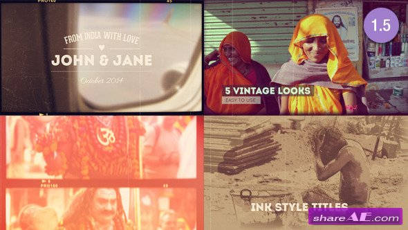 Vintage Memories Projector - Photo Slideshow - After Effects Project (Videohive)