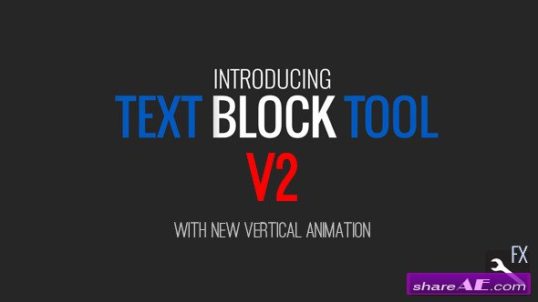 Text Block Tool - After Effects Project (Videohive)