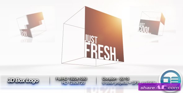 3D Box Logo - After Effects Project (Videohive)