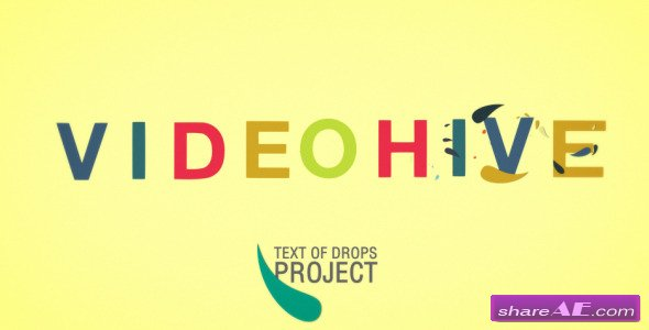 Animated Font Drops - After Effects Project (Videohive) » free after ...