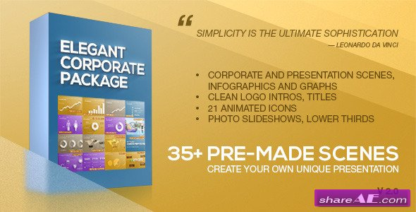 Elegant Corporate Package 7377100 - After Effects Project (Videohive)