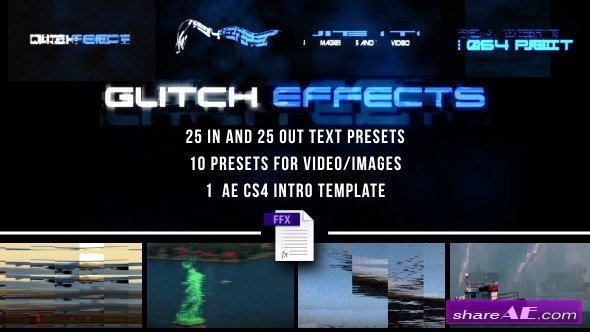 Glitch Presets for Text and Video - After Effects Presets (Videohive)