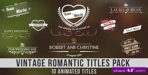 Vintage Romantic Titles Pack - After Effects Project (Videohive)