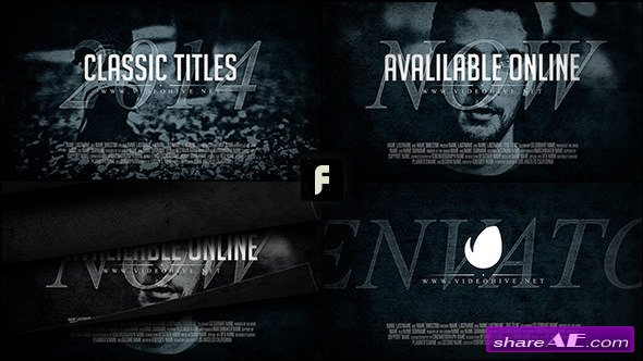 Classic Titles - After Effects Project (Videohive)
