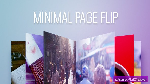 Minimal Page Flip - After Effects Project (Videohive)