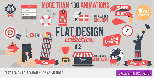 Flat Design - After Effects Project (Videohive)
