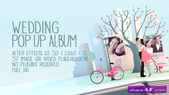 Wedding Pop Up Album - After Effects Project (Videohive)