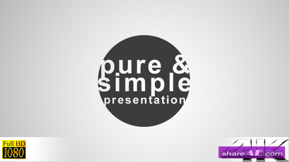 Pure and Simple - Presentation - After Effects Project (Videohive)