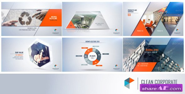 clean corporate 7698373 - after effects project (videohive) » free, Powerpoint templates