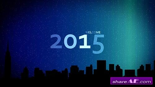 New Year City Skyline - After Effects Project (VideoBlocks)