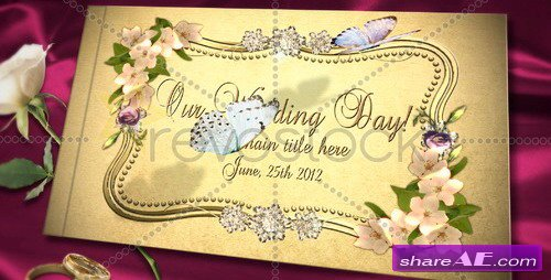 Our Wedding Day Album - After Effects Project (Revostock)