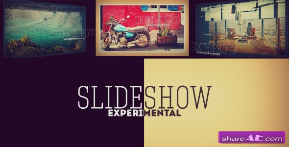 Experimental 3D Photo Slideshow - After Effects Project (Videohive)