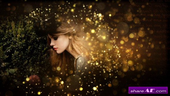 Gold Particles Postcard Opener - After Effects Project (Videohive)