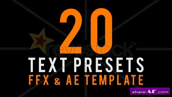 Text Animated Presets - After Effects Project (RevoStock)