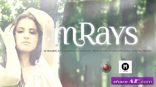 mRays: 60 Realistic Rays elements 2K Collection (motionVFX)