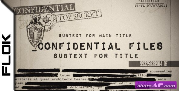 Confidential Files - After Effects Project (Videohive)