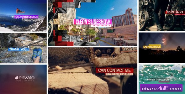 Clean Slideshow Opener - After Effects Project (Videohive)