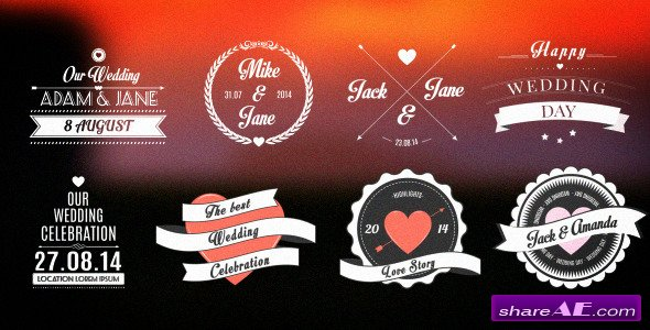 Wedding/Romantic Titles Pack - After Effects Project (Videohive)