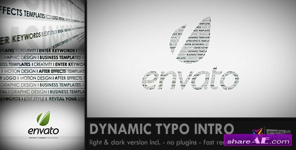Dynamic Typo Intro - After Effects Project (Videohive)