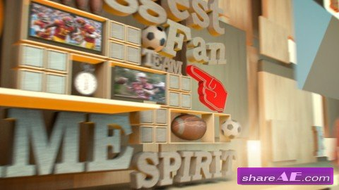 Using MoGraph Effectors to Create a Sports Opener in CINEMA 4D (Digital Tutors)