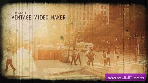 Vintage Video Maker - After Effects Project (Videoblocks)