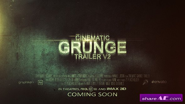 Cinematic Grunge Trailer v2 - After Effects Project (Videohive)