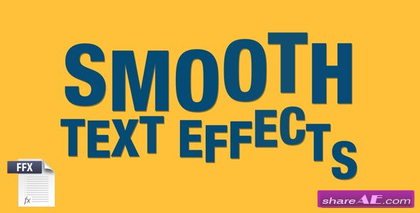 Smooth Text Effects - After Effects Project (Videohive)