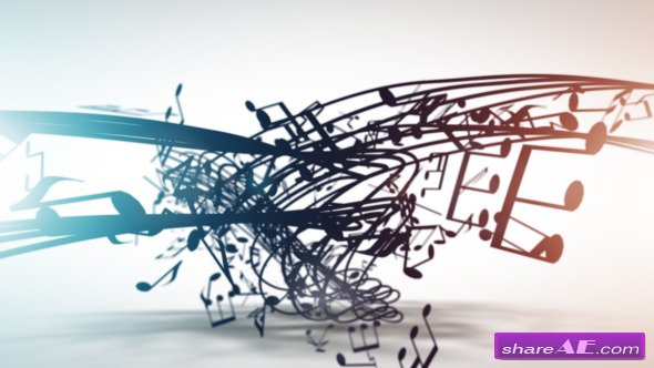 Musical Notation Logo Reveal - After Effects Project (Videohive)