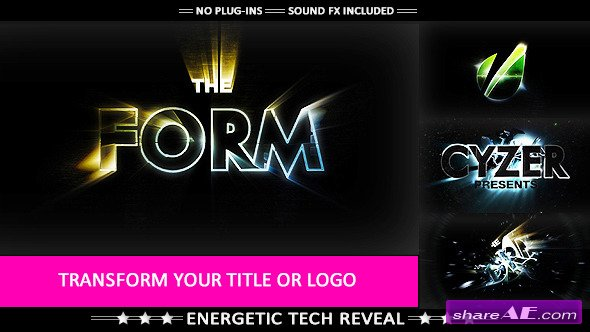 The Form - Hi-tech Impact Logo Transformation - After Effects Project (Videohive)