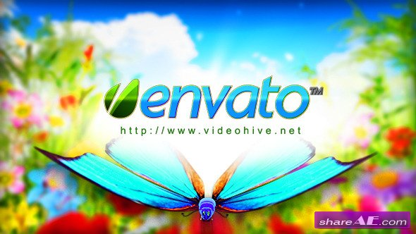 Logo Featuring Butterflies in Natural Environment - After Effects Project (Videohive)
