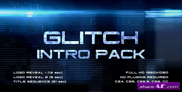 Glitch Intro Pack - After Effects Project (Videohive)