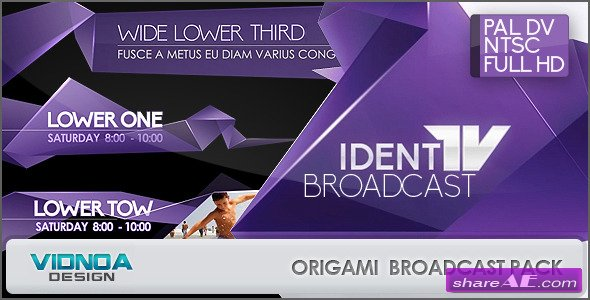 Origami Broadcast Package - After Effects Project (Videohive)