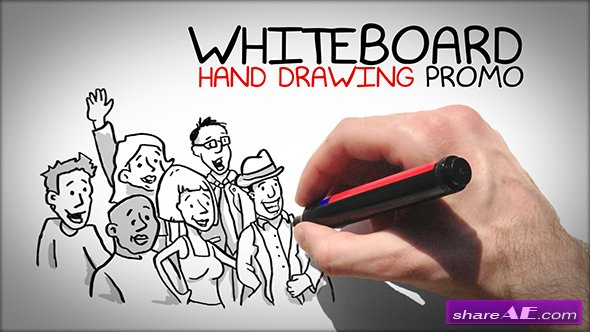 Whiteboard Hand Drawing Promo - After Effects Project (Videohive)
