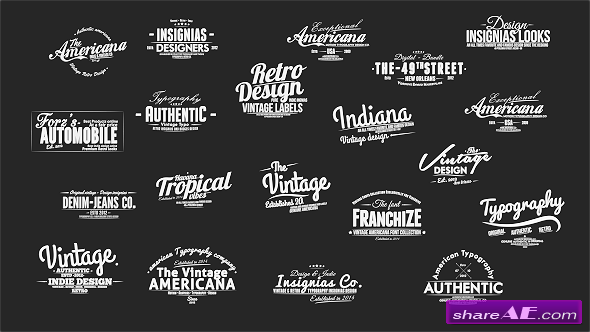 Vintage SlideShow Titles Pack - After Effects Project (Videohive)