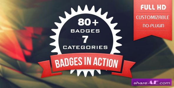 80+ Badges : Corporate/Festival/Neon/Organic - After Effects Project (Videohive)