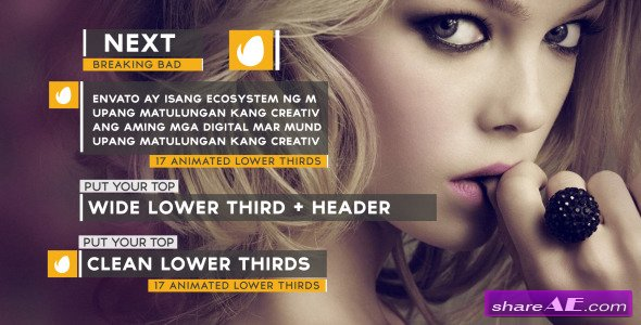 Clean Lower Thirds 8907441 - After Effects Project (Videohive)