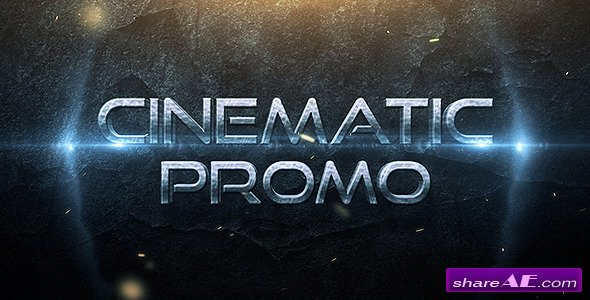 Cinematic Promo Trailer After Effects Project Videohive