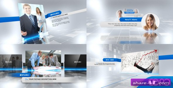 videohive simple company presentation - after effects project, Powerpoint templates