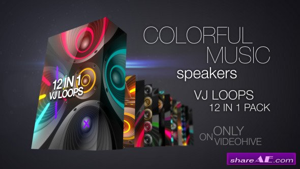 Colorful Music Speakers VJ Pack - Motion Graphic (Videohive)