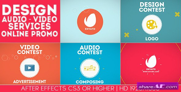Design-Audio-Video Services Online Promo - After Effects Project (Videohive)