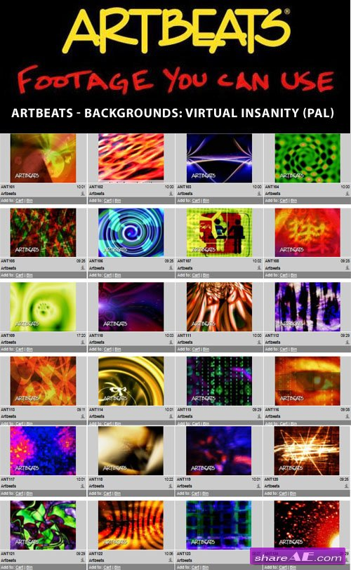 Artbeats - Backgrounds: Virtual Insanity (PAL)